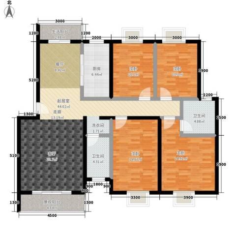御苑家园4室0厅2卫1厨169.00㎡户型图