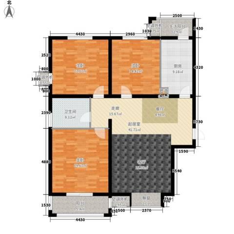阳光公寓3室0厅1卫1厨128.00㎡户型图