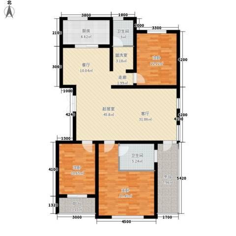 安联蓝水晶3室0厅2卫1厨159.00㎡户型图