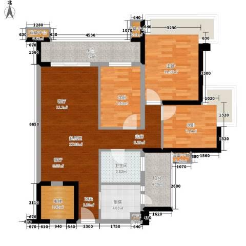 雅居乐海南清水湾3室0厅1卫1厨101.00㎡户型图