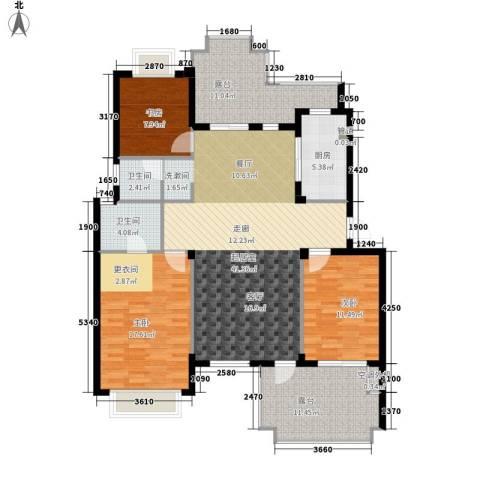 广济路小区3室0厅2卫1厨126.00㎡户型图