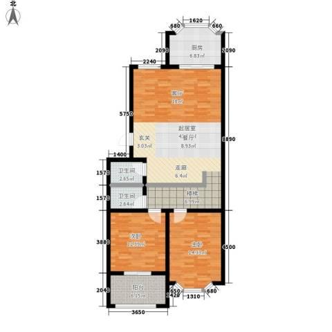 紫金山小区2室0厅2卫1厨101.00㎡户型图