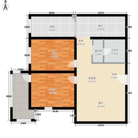 名人时代商务区2室0厅1卫1厨114.00㎡户型图
