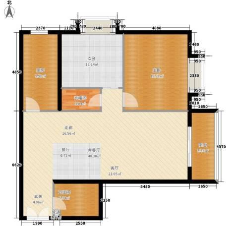 东方星苑2室1厅1卫1厨104.00㎡户型图