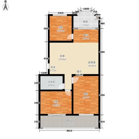 紫金山小区3室0厅1卫1厨129.00㎡户型图
