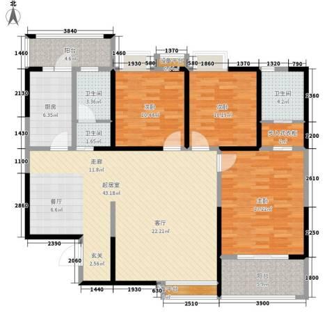 荣华北经城3室0厅3卫1厨150.00㎡户型图