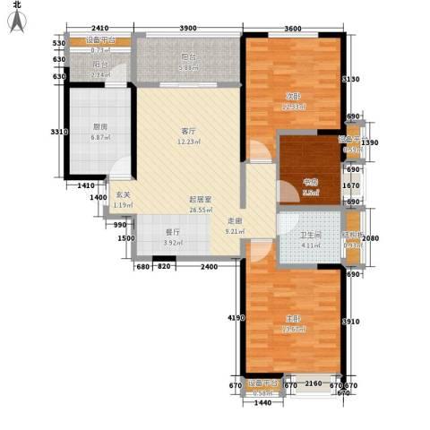 荣华北经城3室0厅1卫1厨109.00㎡户型图