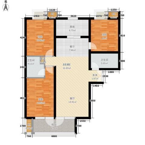 唐门一品 观澜3室0厅2卫1厨141.00㎡户型图
