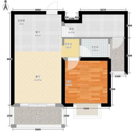 梅兰花园1室0厅1卫1厨69.00㎡户型图
