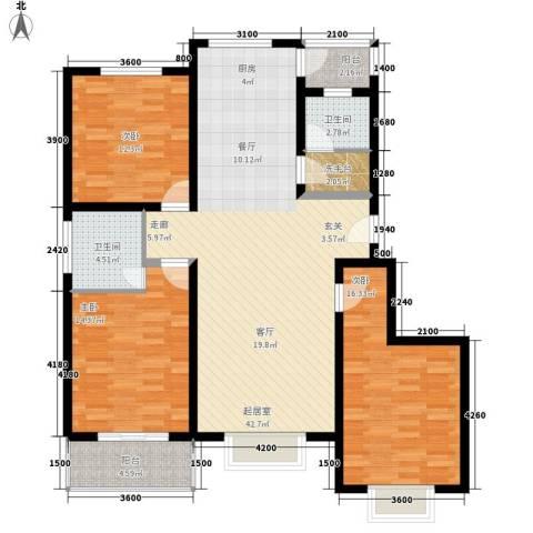 梅兰花园3室0厅2卫0厨145.00㎡户型图