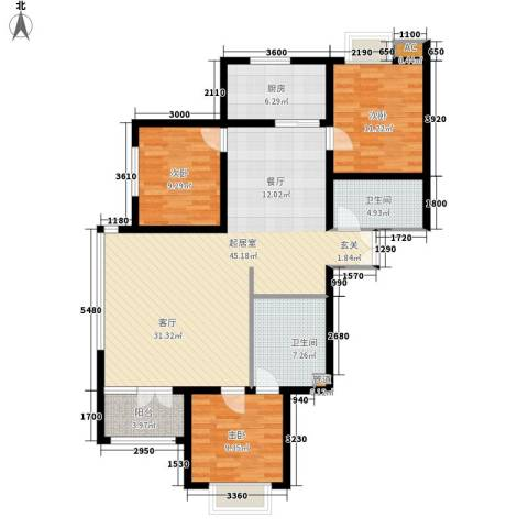 唐门一品 观澜3室0厅2卫1厨139.00㎡户型图