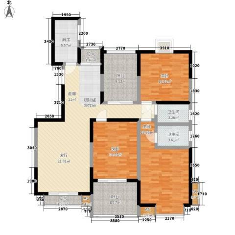 檀香园3室0厅2卫1厨141.00㎡户型图