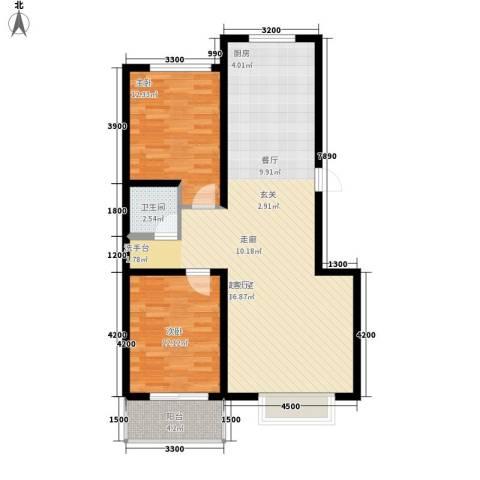 梅兰花园2室0厅1卫0厨107.00㎡户型图