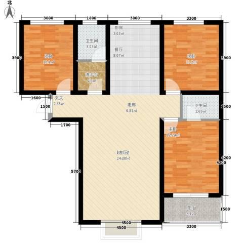 梅兰花园3室0厅2卫0厨128.00㎡户型图