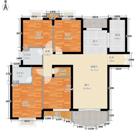 海德卫城4室1厅2卫1厨164.00㎡户型图