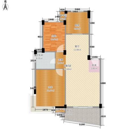 时代美居2室0厅1卫1厨206.00㎡户型图