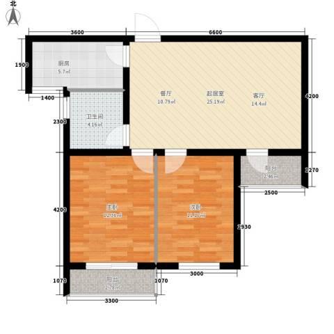 安联蓝水晶2室0厅1卫1厨91.00㎡户型图