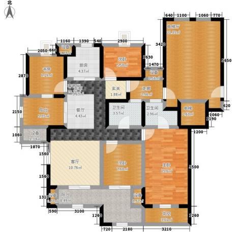 万科城4室1厅2卫1厨142.00㎡户型图