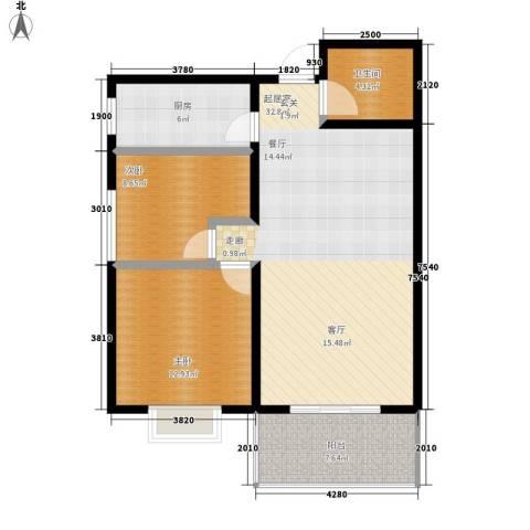 达生凤苑龙居2室0厅1卫1厨93.00㎡户型图