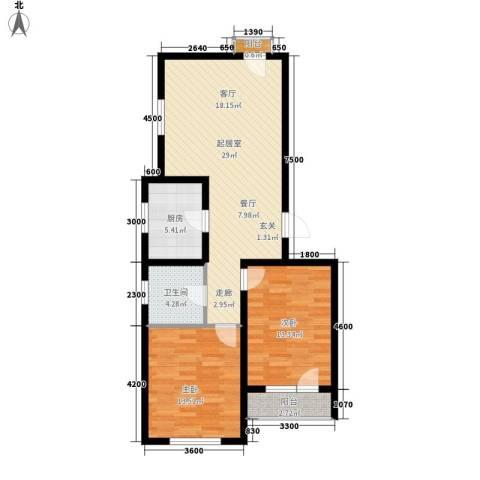 安联蓝水晶2室0厅1卫1厨98.00㎡户型图