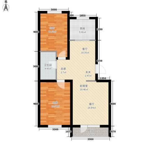 安联蓝水晶2室0厅1卫1厨96.00㎡户型图