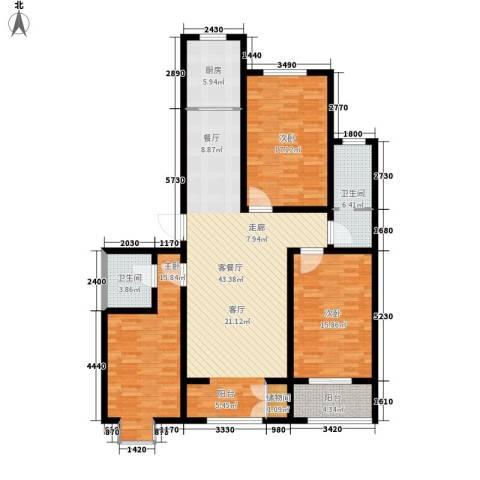 中阳信和水岸3室1厅2卫1厨141.00㎡户型图