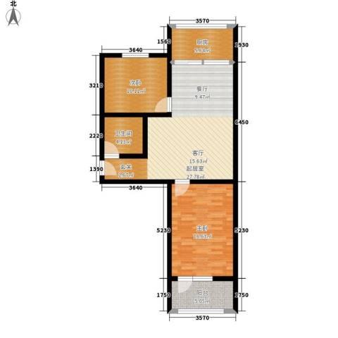 紫金山小区2室0厅1卫1厨76.00㎡户型图