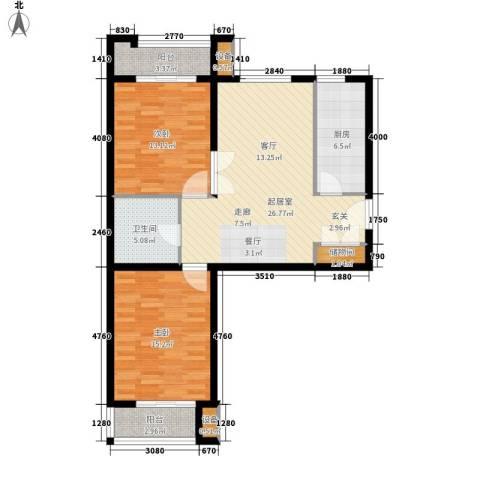 嘉美广场2室0厅1卫1厨108.00㎡户型图