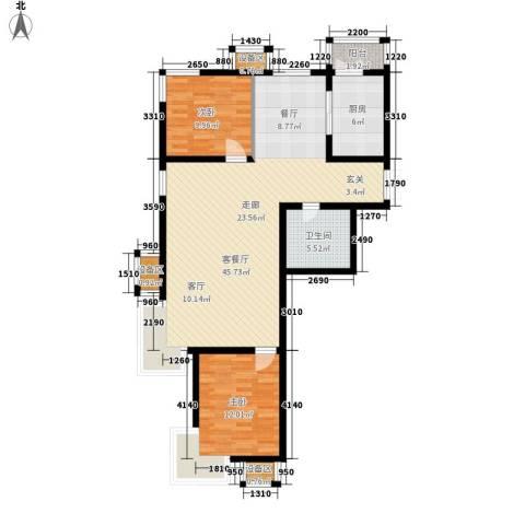 梧桐大道2室1厅1卫1厨115.00㎡户型图