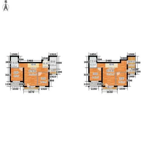 嘉美广场4室0厅2卫1厨158.00㎡户型图