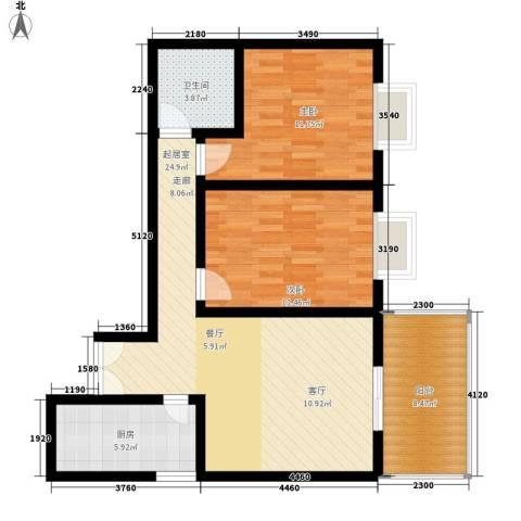 锦城四季2室0厅1卫1厨78.00㎡户型图