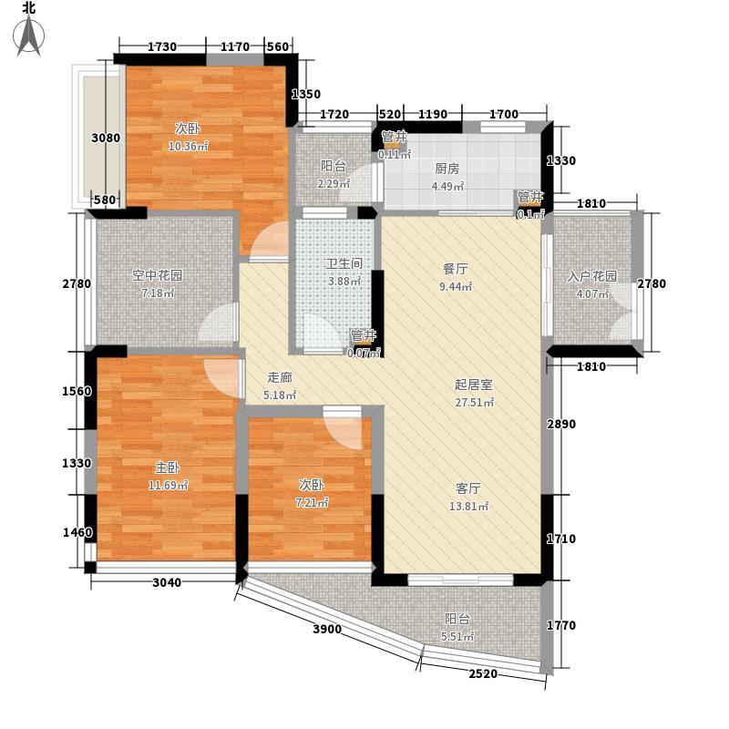 夏湾拿(HAVANA)98.00㎡6#3号房、7#7号房户型