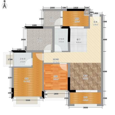 东江豪门别墅2室0厅2卫1厨103.00㎡户型图