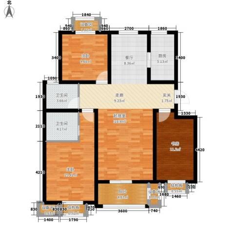 盛世峰景3室1厅2卫1厨140.00㎡户型图