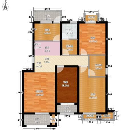 盛世峰景3室1厅2卫1厨147.00㎡户型图