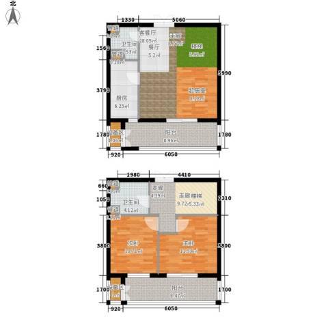 梧桐大道2室1厅2卫1厨138.00㎡户型图