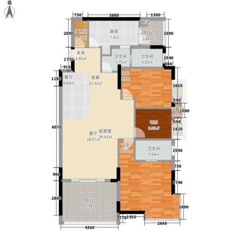 会展西岸3室0厅3卫1厨137.00㎡户型图