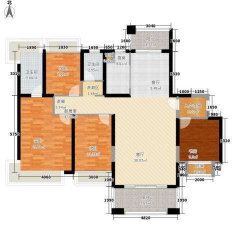 保利・观湖国际4室0厅2卫1厨140.00㎡户型图