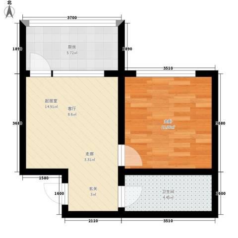 紫金山小区1室0厅1卫1厨43.00㎡户型图