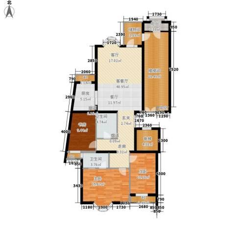 上京新航线3室1厅2卫1厨141.00㎡户型图