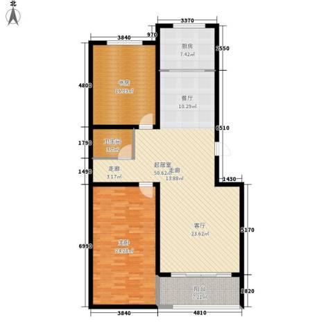 东润家园2室0厅1卫1厨122.00㎡户型图