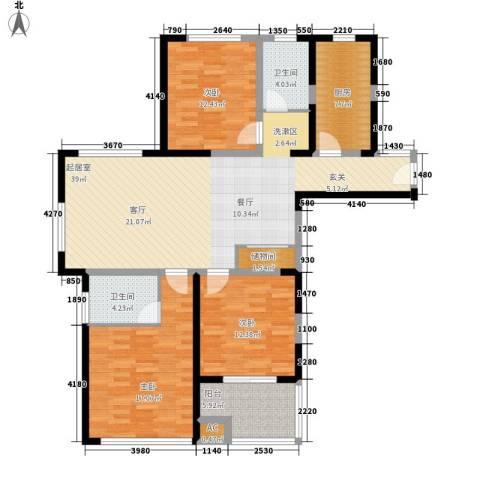 和泰家园3室0厅2卫1厨150.00㎡户型图