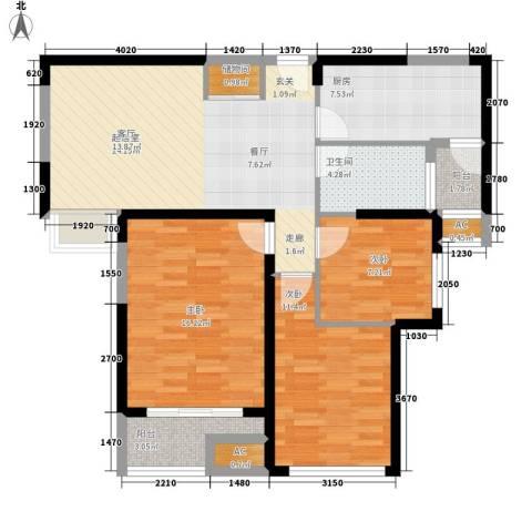和泰家园3室0厅1卫1厨112.00㎡户型图