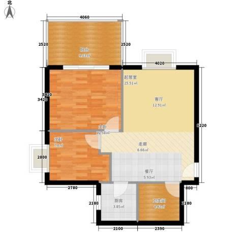 锦城四季2室0厅1卫1厨70.00㎡户型图