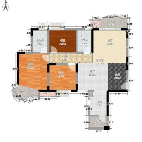 长安新世纪宜居3室0厅2卫1厨109.00㎡户型图