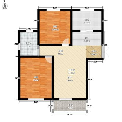 阳山花苑2室0厅1卫1厨88.60㎡户型图