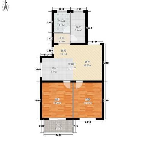 嘉元花园2室2厅1卫0厨70.00㎡户型图