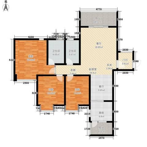 荣华北经城3室0厅2卫1厨134.00㎡户型图