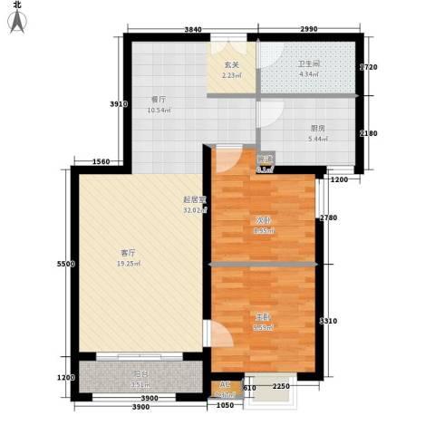 唐门一品 观澜2室0厅1卫1厨92.00㎡户型图