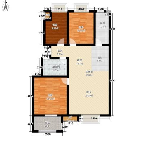 腾骐冠宸3室0厅1卫1厨117.00㎡户型图